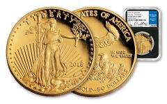 2018-W 50 Dollar 1-oz Gold Eagle NGC PF70UCAM First Day Of Issue Washington DC Moy Signed