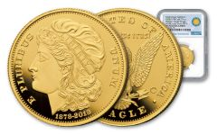 2018 Smithsonian Institution 1/2-oz Gold 1878 Morgans Eagle NGC PF70UCAM