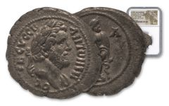 157-158 A.D. Roman Antoninus Pius Bi-Tetradrachm NGC Choice AU Star