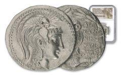 132-131 B.C. Greek Silver New Style Owl Tetradrachm NGC Choice AU