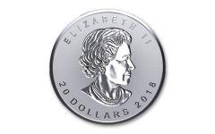 2018 Canada 20 Dollar 1-oz Silver Incuse Maple Leaf Reverse Proof
