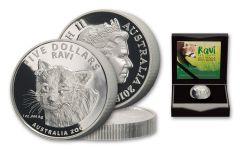 2018 Australia 5 Dollar 1-oz Silver Ravi Red Panda Proof