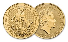 2018 Great Britain 1/4-oz Gold Queen's Beasts Black Bull BU