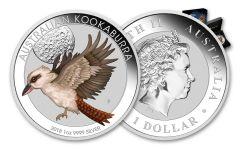 2018 Australia 1 Dollar 1-oz Silver Kookaburra Colorized World Money Fair BU