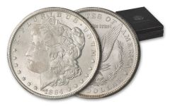1882-1884-CC Morgan Silver Dollar GSA NGC MS64 3pc Set