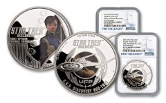 2018 Tuvalu Silver Star Trek Discovery NGC PF70UCAM First Releases 2pc