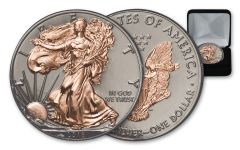 2018 1 Dollar 1-oz Silver Eagle BU Gilded Ruthenium and Rose Gold