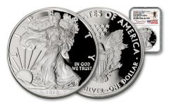 2018 1 Dollar 1-oz Silver Eagle NGC PF70UCAM Early Releases Travis Mills