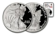 2018 1 Dollar 1-oz Silver Eagle NGC PF70UCAM First Day Of Issue Travis Mills