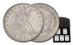 SS Republic 1854-1860-O Seated Liberty Half Dollar 5 Piece Set NGC Shipwreck Effect