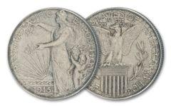 1915-S 50 Cents Panama Pacific Silver Commemorative XF-AU