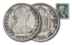 1775-1783 Spain Silver 2 Reales Continental Congress XF