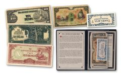 "Japanese WWII ""Philippines Invasion"" 5 Piece Currency Notes Set"