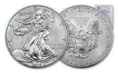 2018-W 1 Dollar 1-oz Burnished Silver Eagle PCGS SP70 First Strike