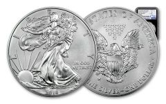 2018-W 1 Dollar 1-oz Burnished Silver Eagle NGC MS70 Early Releases - Black