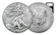 2018-W 1 Dollar 1-oz Burnished Silver Eagle NGC MS70 First Releases - Black