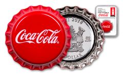 2018 Fiji Coca-Cola Bottle Cap 6-gm Colorized Silver NGC PF69UC Coke Bottle Label