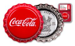 2018 Fiji Coca-Cola Bottle Cap 6-gm Colorized Silver NGC PF70UC Coke Bottle Label Red Core