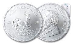2018 South Africa 1-oz Silver Krugerrand BU – Roll of 25