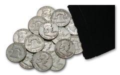 1948-1963 Silver Franklin Half Dollar F-AU Half Pound Bag