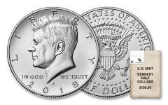 2018-PD Kennedy Half Dollar Bag of 200 Coins