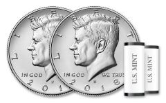 2018-PD Kennedy Half Dollar 2-Roll Set