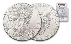 2017 1 Dollar 1-oz Silver Eagle PCGS MS70 FDI Mercanti Signed 1 Of 1000