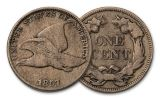 1858 1 Cent Flying Eagle VG Fine Condition