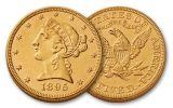 1866-1908 5 Dollar Gold Liberty Uncirculated