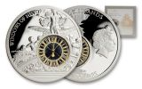 2013 Cook Islands 10 Dollar Silver Grand Central Station Window Proof