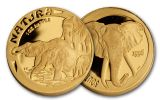 1996 South Africa Gold Elephant Natura Proof Set 4pc