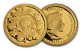 2014 Cook Islands 1 Dollar Gold Pope John Paul II Proof