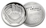 2014 Baseball Hall of Fame Silver Dollar Proof