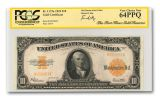 1922 10 Dollar Gold Certificate Fort Knox FR1173A PCGS 64PPQ