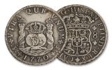 1735-1771 Spanish Pillar 8 Reales F-VF