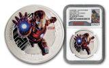 2015 Niue 1-oz Silver Avengers Proof 5pc Set NGC PF70UCAM First Struck