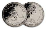1975 Canada 1 Dollar Silver Calgary Proof Like
