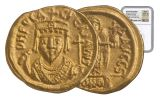 603 AD Byzantine Carthage Phocas Gold Solidus Coin NGC MS*