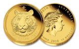 2010 Australia 1/10-oz Gold Lunar Tiger Proof