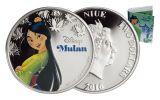 2016 Niue 2 Dollar 1-oz Silver Disney Mulan Proof