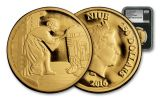 2016 Niue 250 Dollar 1-oz Gold Star Wars Classic Leia Proof NGC PF69UCAM First Releases - Black