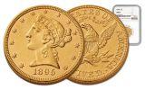 1895 5 Dollar Gold Liberty NGC MS61 w/Motto