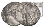 26/27 AD Jerusalem Silver Shekel of Tyre NGC XF