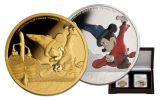 2017 Niue 1-oz Silver and Gold Mickey Fantasia 2-Piece Set NGC PF69UC First Struck