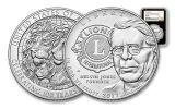 2017 1 Dollar Silver Lions Club Commemorative NGC MS69 - Black