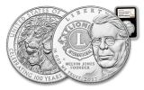 2017 1 Dollar Silver Lions Club Commemorative NGC PF69 - Black