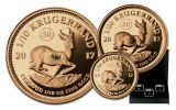 2017 South Africa Gold Krugerrand Prestige 3-Pc Set NGC PF70UCAM First Releases