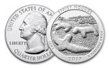 2017 25 Cent 5-oz Silver America the Beautiful Effigy Mounds Gem BU