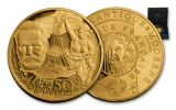 2017 France 1/4-oz Gold Europa Star Age of Iron Proof