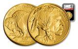 2017 50 Dollar 1-oz Gold Buffalo NGC MS70 225th Anniversary - Black